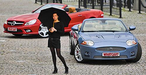 Jaguar XKR Convertible и Mercedes-Benz SL 500. Фото с сайта whatcar.ru
