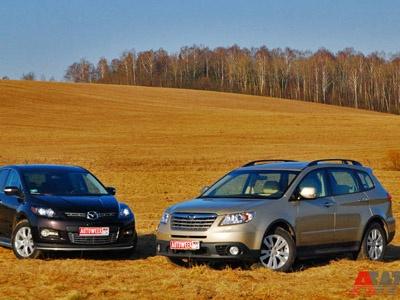 Subaru Tribeca и Mazda CX7. Фото Дарьи Сорокиной с сайта AutoWeek.ru