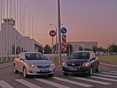 Toyota Auris, Toyota Corolla. Фото с сайта CarClub.ru