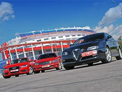 Audi A5, Mercedes-Benz CLC class, Alfa Romeo GT. Фото Романа Мартынова и Василия Заключаева с сайта autoweek.ru.