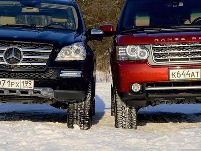 Mercedes-Benz GL-Класс и Range Rover. Фото Александра Страхова-Баранова с сайта media.club4x4.ru