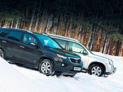 Kia Sorento и Nissan X-Trail. Фото Игоря Кузнецова, 5 колесо