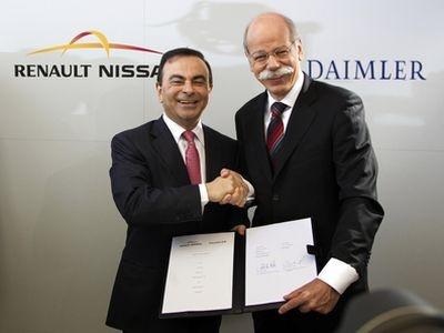 Карлос Гон (Renault-Nissan Allians) и Дитер Цетше (Daimler AG). Фото Renault