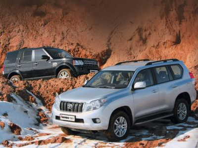 Land Rover Discovery 4 и Toyota Land Cruiser Prado. Фото Игоря Кузнецова, 5 колесо