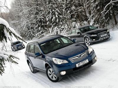 Volvo XC70, Subaru Outback и Audi A4 Allroad. Фото Степана Шумахера с сайта autoreview.ru