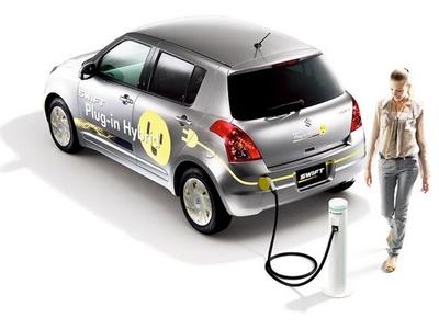 Suzuki Swift Plug-in Hybrid. Иллюстрация Suzuki