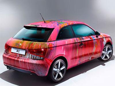 Разукрашенный Херстом Audi A1. Фото Audi