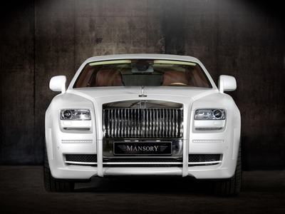 Rolls Royce Ghost White. Фото Mansory