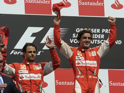 Фелипе Масса и Фернандо Алонсо. Фото Ferrari