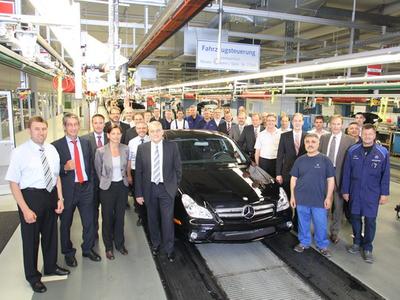Последний Mercedes-Benz CLS C219. Фото Mercedes-Benz
