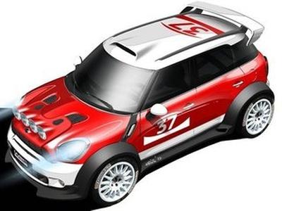 Mini Countryman WRC. Иллюстрация BMW