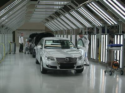 Завод Volkswagen в Калуге. Фото Ленты.Ру.