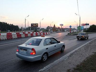 Съезд с Ленинградки на Международное шоссе. Фото Ленты.Ру