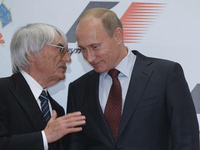Владимир Путин и Берни Экклстоун. Фото пресс-службы Правительства России
