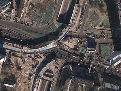 Строительство эстакад. Фрагмент карты с maps.google.com