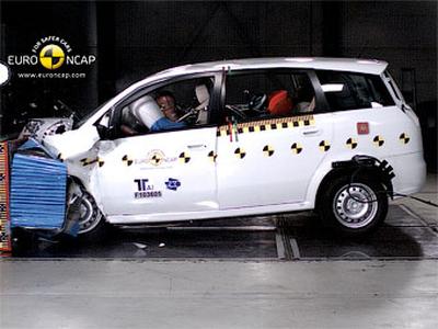 Фронтальный краш-тест Landwind CV9. Фото Euro NCAP
