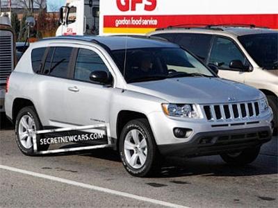 Шпионские снимки Jeep Compass с сайта secretnewcars.com