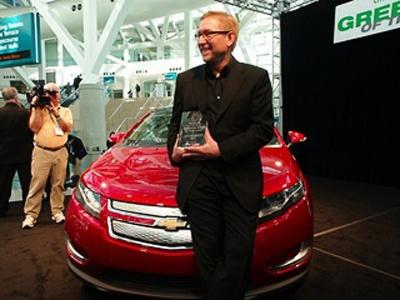 Chevrolet Volt получил титул самого «зелёного» автомобиля 2010. Фото Chevrolet
