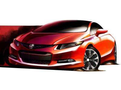 Тизер прототипа нового Honda Civic. Иллюстрация Honda