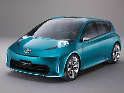 Toyota Prius C Concept. Иллюстрация Toyota