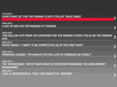 Скрин-шот с сайта ferrarif150.com