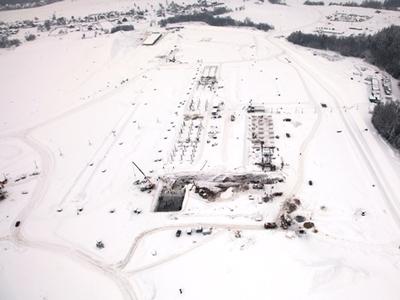 Состояние трассы на 1 февраля. Фото Moscow Raceway