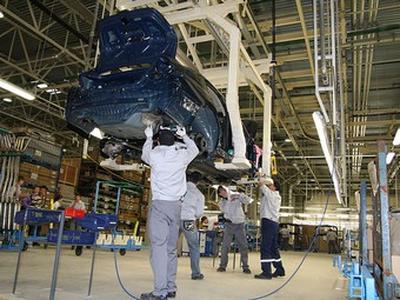 Завод Nissan в Санкт-Петербурге. Фото Ленты.ру