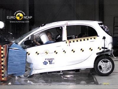 Краш-тест Citroen C-Zero. Фото Euro NCAP
