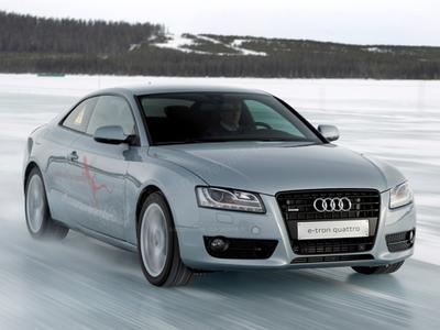 Прототип Audi A5 с системой полного привода e-tron quattro. Фото L'Automobile