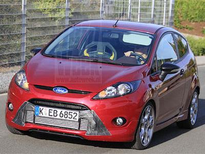 Шпионская фотография тестового Ford Fiesta ST. Фото с сайта autoweek.nl