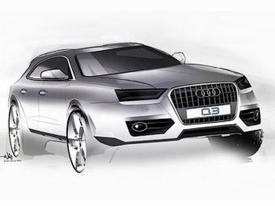 Audi Q3. Иллюстрация Audi