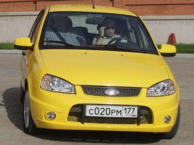 Владимир Путин за рулем Lada Kalina. Фото с сайта carpark.ru
