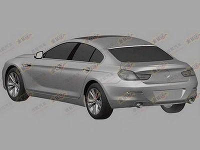 """Изображения """"четырехдверного купе"""" BMW для патентного ведомства. Иллюстрации с сайта autoweek.nl"""