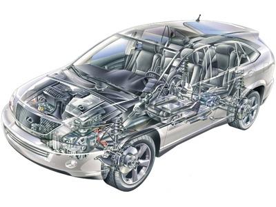 Lexus RX 400h. Фото Lexus