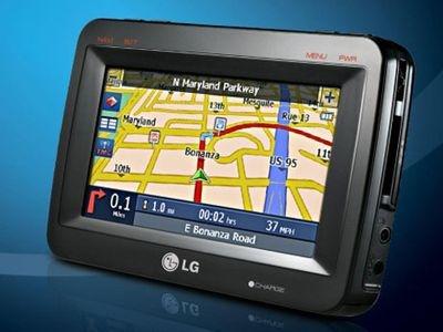 GPS навигатор. Фото LG