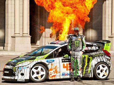 Ford Fiesta HFHV и Кен Блок. Фото Monster World Rally Team
