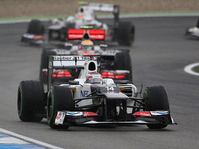 Камуи Кобаяши за рулем болида Sauber