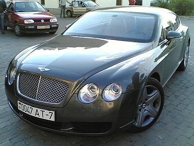 Bentley c белорусскими номерами