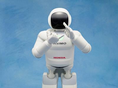 Робот Asimo демонстрирует свои возможности