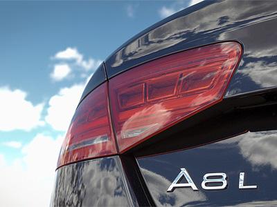 Фрагмент седана Audi A8 L текущего поколения