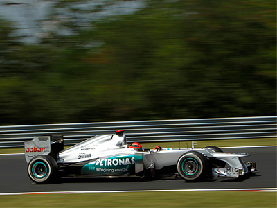 Михаэль Шумахер на венгерском Гран При