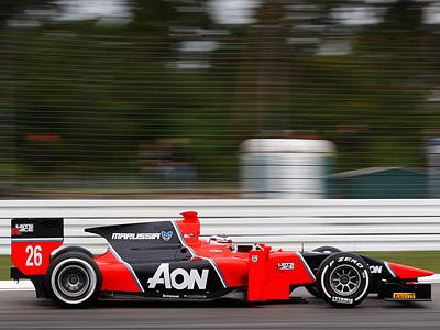 Макс Чилтон за рулем болида команды Marussia Carlin серии GP2