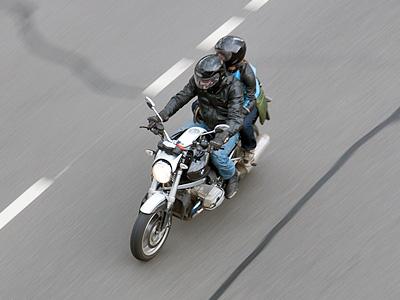 Мотоциклист в Москве