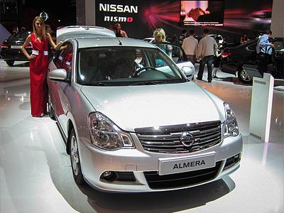 Nissan Almera на Московском автосалоне