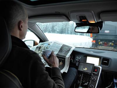 Испытательные заезды на беспилотных Volvo в рамках проекта SARTRE