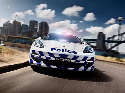 Полицейский Porsche Panamera в Австралии