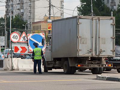 Проверка документов на въезде в Москву