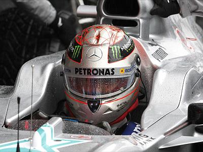 Михаэль Шумахер на бельгийском этапе Формулы-1 в Спа