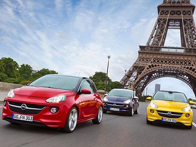 Компакт-кар Opel Adam на Парижском мотор-шоу