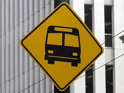 Знак автобусной полосы